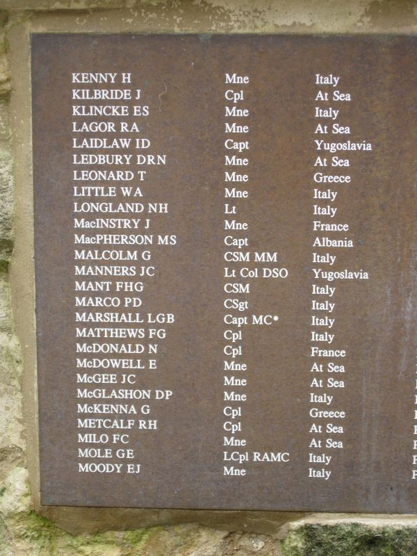 Memorials And Monuments On The Isle Of Wight Shanklin