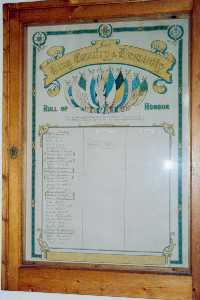 Arreton Methodist Church Roll of Honour (photo Mrs P Phillips)