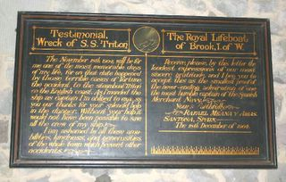 Brook St Mary RNLI plaque 5