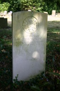 Northwood Cemetery (Cowes) :  W Thomson : no photo available