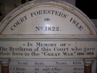 Cowes : Foresters Hall memorial