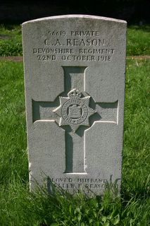 East Cowes (Kingston Road) Cemetery : C A Reason