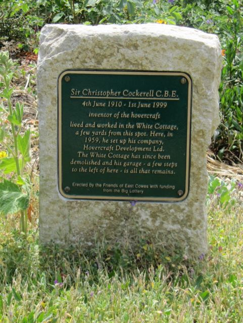 East Cowes Sir Christopher Cockerell memorial