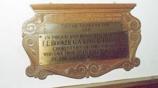 Lake Church of the Good Shepherd : Choristers memorial