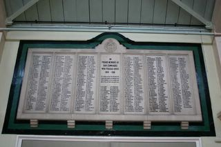 Newport : Drill Hall Isle of Wight Rifles Memorial