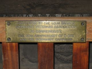 Newport : Normandy Veterans Association memorial bench