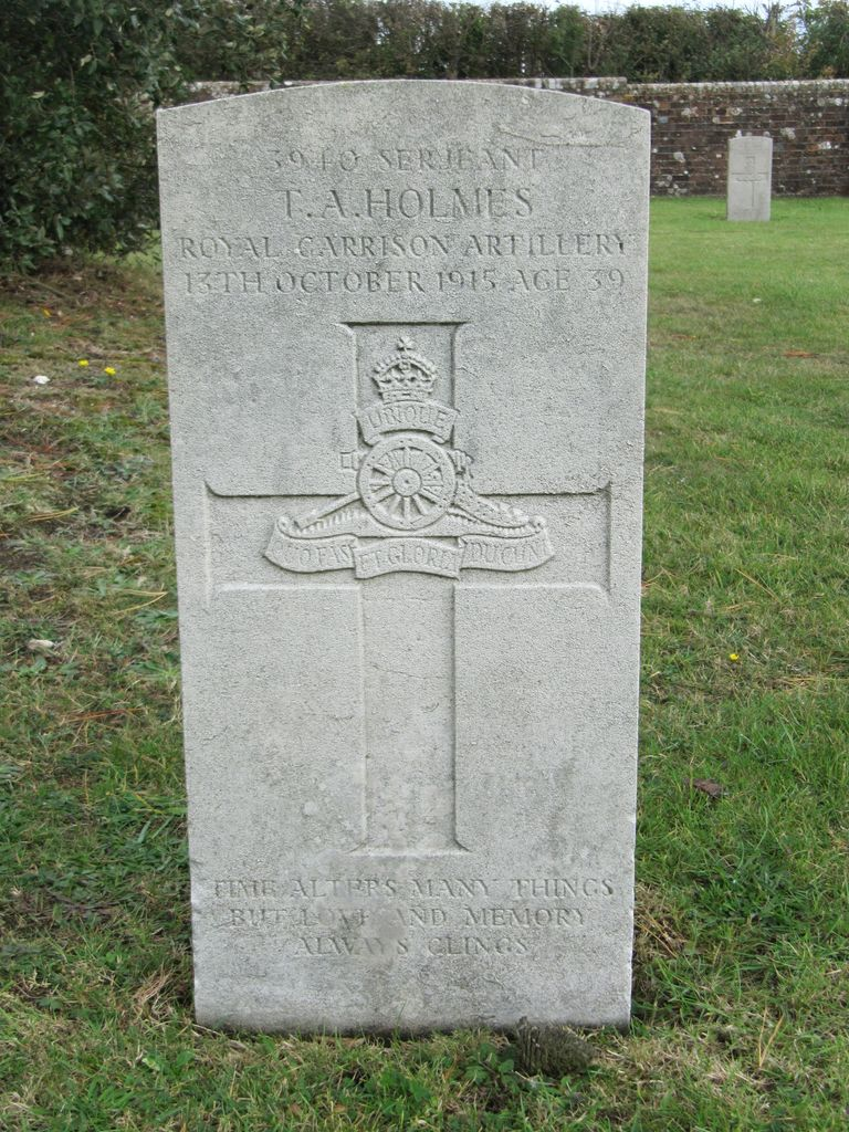 Parkhurst Military Cemetery : T A Holmes