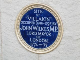 Sandown : John Wilkes, MP plaque