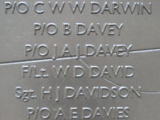 London : J A J Davey on Battle of Britain memorial