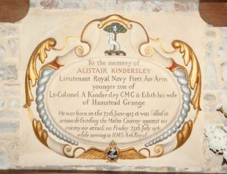 Shalfleet St Michael's A Kindersley  memorial