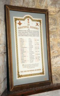 Shalfleet St Michael's Roll of Honour