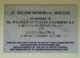 St Helens Village Green Memorial Shelter