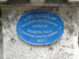 Ventnor : Macaulay visit plaque