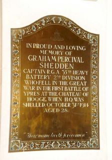 Whippingham St Mildred's Church Graham Percival Shedden Memorial