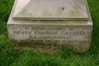 Yarmouth St James's Cemetery : H F Gatrell